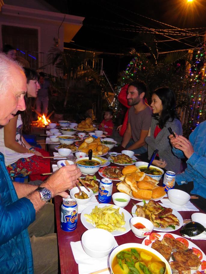 Family Dinner in Dalat - Christmas 2014