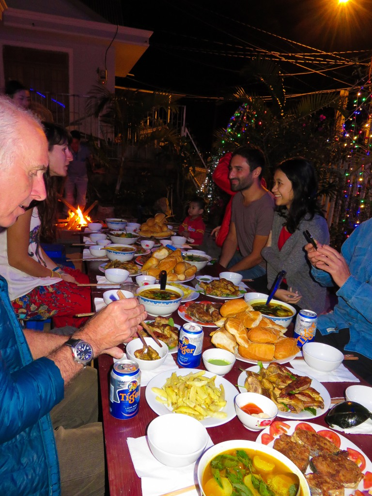Family Dinner in Dalat - Christmas 2014