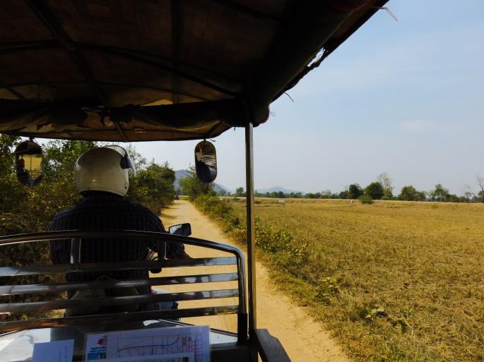 Back of our TukTuk in Battambang Cambodia